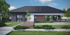 DOM.PL™ - Projekt domu CPT HomeKoncept-36 wariant 1 CE - DOM CP5-04 - gotowy koszt budowy Passive House, Home Fashion, Exterior Design, Garage Doors, House Styles, Outdoor Decor, Home Decor, Architecture, House