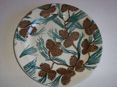 """TEPCO PINECONE RESTAURANT WARE (One) 10-1/2"""" Large Dinner Plate  