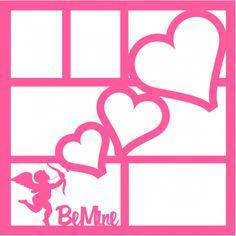 Be Mine (Cupid) - Laser Die Cut Scrapbook Overlay