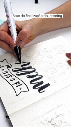 Bullet Journal Lettering Ideas, Bullet Journal Printables, Bullet Journal Writing, Bullet Journal School, Hand Lettering Art, Typography Letters, Lettering Design, Calligraphy Alphabet Tutorial, Lettering Tutorial