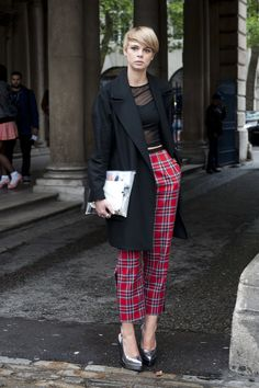 Best Street Style at London Fashion Week Spring 2014 | POPSUGAR Fashion