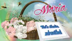 Mária   Veľa šťastia, zdravíčka! Place Cards, September, Place Card Holders, Marvel, Candle