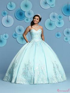 5aa0b85525 44 Popular Aqua Quinceanera Dresses images in 2019