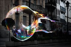 Todays photo: blowing bubbles