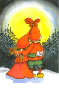 Postcrossing postcard from Finland Christmas Graphics, Christmas Clipart, Christmas Pictures, Magical Christmas, Christmas Fun, Scandinavian Christmas, Art Wall Kids, Children's Book Illustration, Whimsical Art