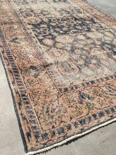 Turkish rug navy rug vintage oushak rug anatolian by Fareawayland Coffee Table Accessories, Decorative Accessories, Home Accessories, Berkeley Homes, Entrance Ways, Navy Rug, Diy Coffee Table, Persian Rug, Home Goods