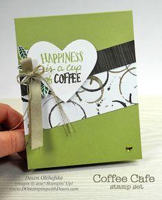 Stampin' Up! Coffee Break Designer Series Paper card by Dawn Olchefske for DOstamperSTARS Thursday Challenge #DSC239 #dostamping