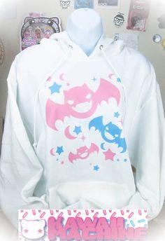 Kawaii Fairy Kei Pastel Goth Bats Womens by thekawaiimachine