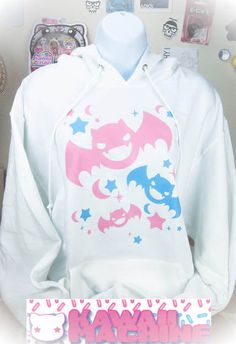 Kawaii Fairy Kei Pastel Goth Bats Womens by thekawaiimachine, $45.00