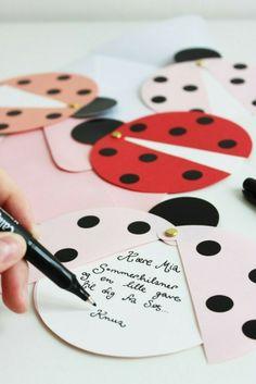 Diy Invitations, Birthday Invitations, Birthday Cards, Ladybug Invitations, Invitation Cards, Kids Crafts, Miraculous Ladybug Party, Tarjetas Diy, Diy Party