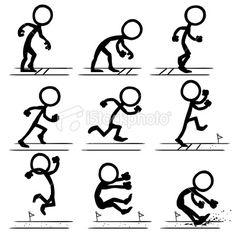 Stickfigure Olympic Long Jump Royalty Free Stock Vector Art Illustration