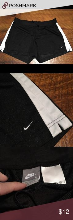 Black women's Nike mesh shorts Lightly worn, message with questions! #nike #womens #shorts #mesh Nike Shorts