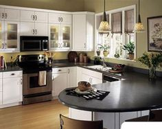 curved kitchen island designs | Photos of Best Kitchen Curved Countertop Materials inspired to design ...