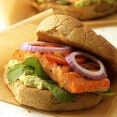 Blackened Salmon Po' Boy Recipe