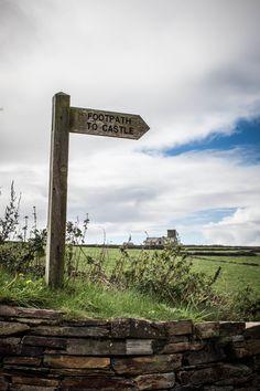 Tintagel Castle footpath, Cornwall