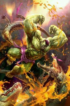 The Hulk vs. Alligators........