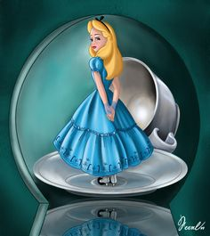 Digital version of an old drawing, made with Photoshop Alice in Wonderland © Disney Disney Love, Disney Magic, Disney Art, Disney Pixar, Disney Characters, Walt Disney, Alice Disney, Disney Princess, Alicia Wonderland
