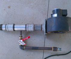 Natural gas forge burner