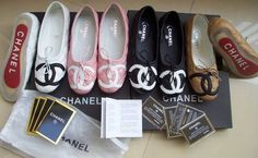 I love chanel ballerinas as slippers at home !