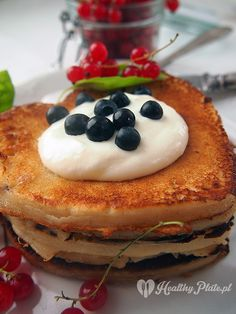 pancakes with fruit / crepes con fruta