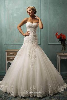 Strapless Sweetheart Tulle Lace Mermaid Wedding Dress - Imgur