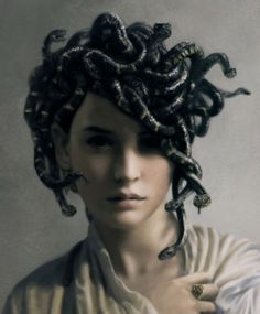 medusa! How does one create such beautiful art? Artist unknown?  febscakes.tumblr.com