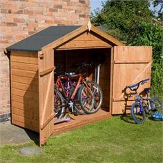 """6'6"""" x 2'3"""" tongue & groove - designed to fit 2 adult bikes"""