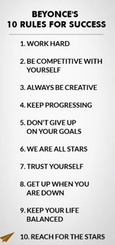 10 Rules for success: Beyonce