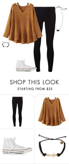 """""""Untitled #1731"""" by elephant10 ❤ liked on Polyvore featuring James Perse, WithChic, Converse, Pura Vida and Kendra Scott"""