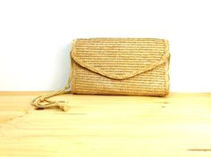 Vintage Woven Straw Purse / Cross Body Bag / by VintageEdition
