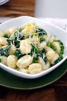 DeLallo Italian Pasta Recipes: Lemon Gnocchi with Peas & Spinach