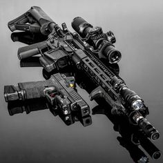 Blacked out tactical ZEV is the ultimate in DESIGN. Use on your component and stay tuned for the announcement of the last weeks winner and the Winner of the Month of June! Airsoft Guns, Weapons Guns, Guns And Ammo, Big Guns, Cool Guns, Armas Airsoft, Ar15, Gun Vault, Armas Ninja