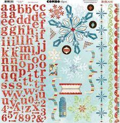 Bo Bunny - Blitzen Collection - Christmas - 12 x 12 Cardstock Stickers - Combo at Scrapbook.com $2.99