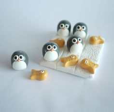 Penguin and Fish Noughts and Crosses Tic Tac Toe by Silverpasta