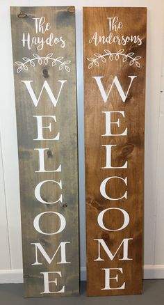 Welcome Sign Custom Name Welcome Welcome Porch Sign Front Door Welcome Signs Front Door, Front Porch Signs, Front Door Decor, Victorian Front Doors, Wood Front Doors, Entry Doors, Diy Origami, Painted Front Porches, Diy Love