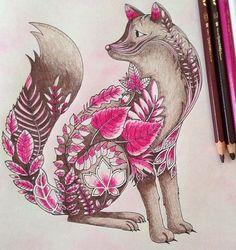 Fox nature art coloring