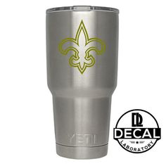 Yeti Decal Sticker - New Orleans Saints Decal Sticker For Yeti RTIC Rambler Tumbler Coldster Beer Mug