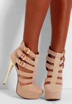 There is 1 tip to buy shoes, nude, buckles, cut-out, strappy shoe boots. Strappy Shoes, Gladiator Sandals, Shoes Heels, Buy Shoes, Me Too Shoes, Shoe Boots, Peep Toe, Girly, Nude
