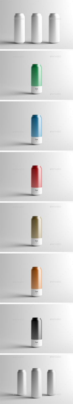 Can Mock-Up - 500ml by Zeisla 3 Psd Files (One Can, Multiple Cans1, Multiple Cans 2) Editable via Smart Object The background and items on scene are editable v