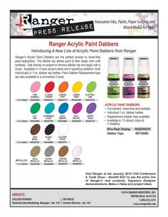 "I added ""Ranger Ink, Paint & More"" to an #inlinkz linkup!http://rangerink.com/day-1-cha-new-product-releases-ranger/"
