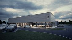 Car showroom on Behance