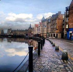 The shore-leith Edinburgh - by Naela Bloshe Edinburg Scotland, Scotland Uk, Scotland Travel, England Ireland, England Uk, London England, Wonderful Places, Beautiful Places, Beautiful Pictures