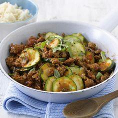 Zucchini-Hackfleisch-Pfanne Rezept | Küchengötter