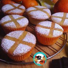 Muffins de naranja rellenos de chocolate ~ ¡Huele Bien!