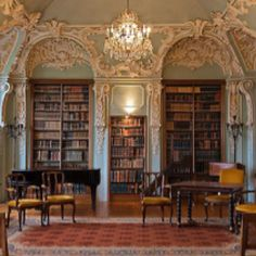 Enchanted Victorian library.