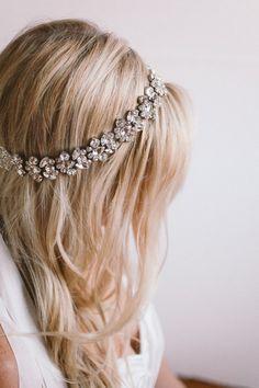 Crystal Bridal Halo by abigailgracebridal Etsy listing at https://www.etsy.com/listing/197062827/amazing-crystal-bridal-halo-silk-ribbon