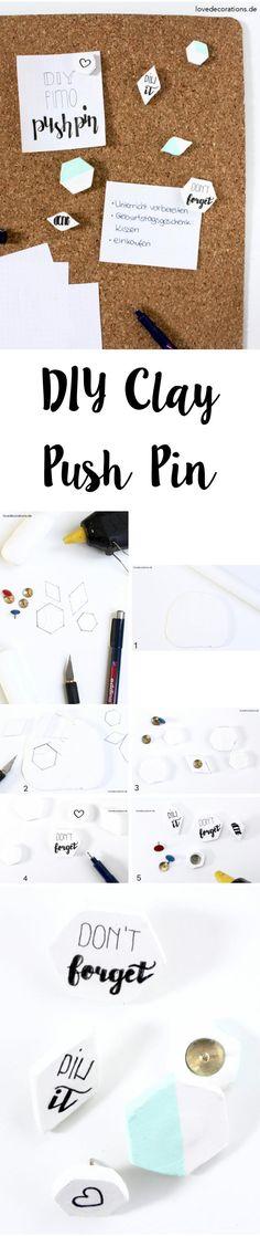 DIY Fimo Push Pin   DIY Clay Push Pin