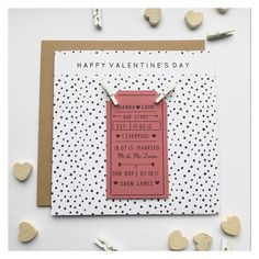"""Valentines Card! Our story, personalised valentines card. Valentines memories. Particular Designs (@particulardesigns) on Instagram: """"Oh all you love birds have certainly kept me busy this week ♥️Over 80 cards have left our little…"""" Liverpool, Hanna, Love Birds, Valentines, Memories, Cards, Instagram, Design, Valentines Diy"""