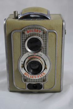 RARE 1950's Bolsey Flex TLR Camera w Case Made in Germany | eBay
