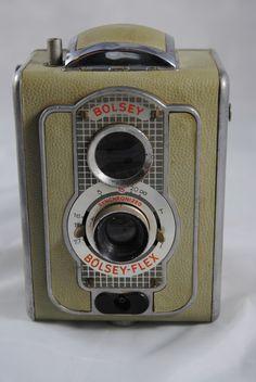 RARE 1950's Bolsey Flex TLR Camera w Case Made in Germany | eBay